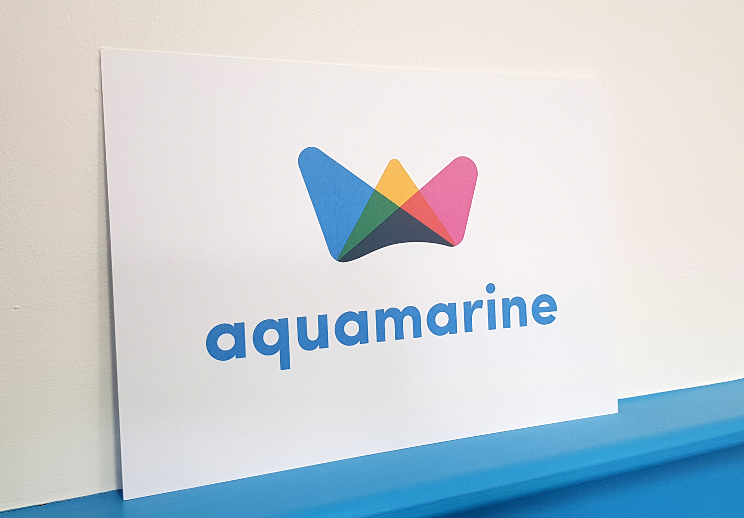 Aquamarine logo on paper